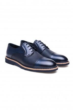 حذاء رجالي مدبوغ برباط سبور شيك - ازرق داكن