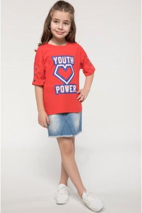 تنورة اطفال بناتي جينز -  ازرق