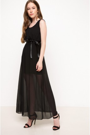 فستان سبور شيك - اسود