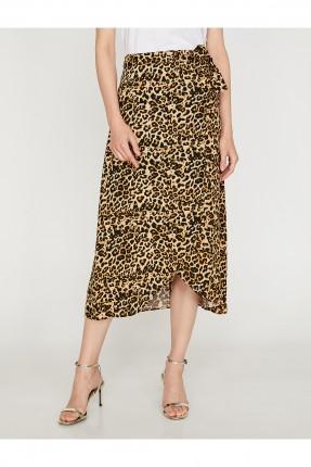 تنورة طويلة سبور مدبوغة نقشة جلد النمر