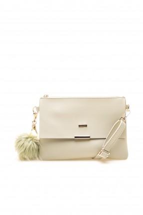 حقيبة يد نسائية مع غطاء وحزام سبور