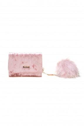 حقيبة يد نسائية صغيرة مع غطاء كلاسيكية - زهري