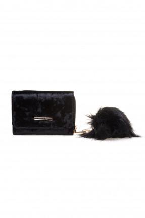حقيبة يد نسائية صغيرة مع غطاء كلاسيكية - اسود