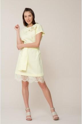 فستان سبور مع دانتيل - اصفر