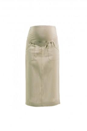 تنورة طويلة حمل مع جيوب - بيج