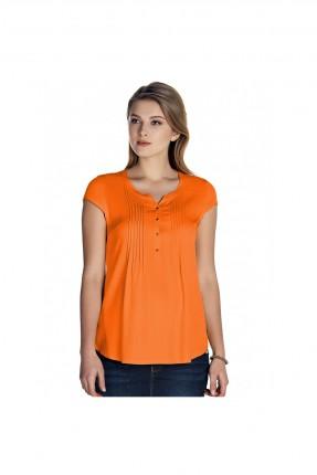 بلوز حمل بازرار - برتقالي