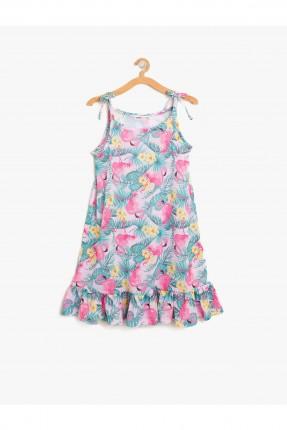 فستان اطفال بناتي حفر منقوش نعامات