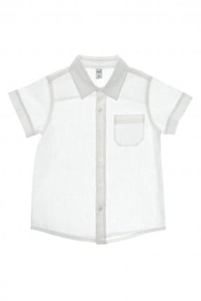 قميص اطفال ولادي سادة مع جيب