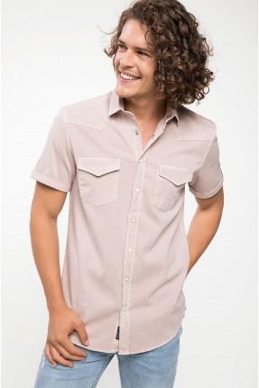 قميص رجالي مع جيوب قصة سليم فيت - وردي