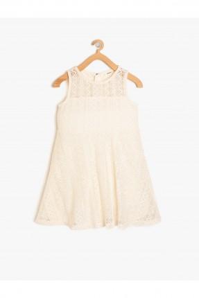 فستان اطفال بناتي حفر دانتيل