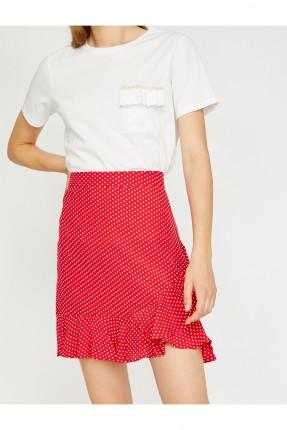 تنورة نسائي قصيرة منقطة سبور - احمر