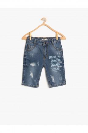 شورت اطفال ولادي جينز مطبوع
