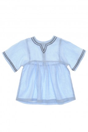 بلوز اطفال بناتي - ازرق