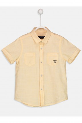 قميص اطفال ولادي _ اصفر