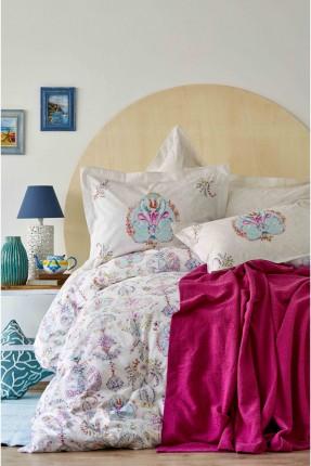 طقم بطانية سرير مزدوج  منقوش