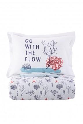 طقم غطاء سرير فردي منقوش اشجار