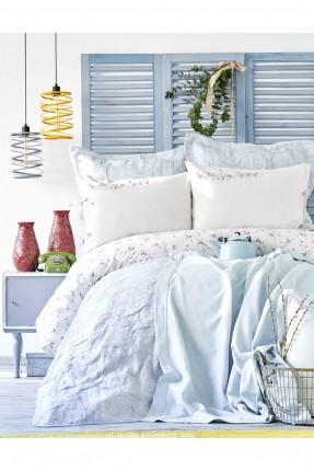 طقم بطانية سرير مفرد منقوش