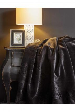 بطانية مزدوجة مدبوغة - اسود