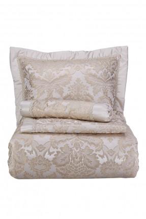 طقم غطاء سرير مزدوج منقوش زخرفة - ذهبي