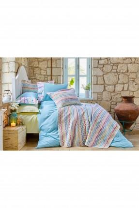 طقم سرير مزدوج منقوش