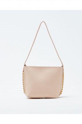 حقيبة يد نسائية مزينة معدن مع حزام كتف سادة
