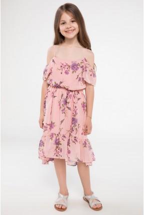 فستان اطفال بناتي مورد - وردي
