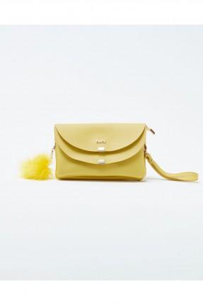 حقيبة يد نسائية صغيرة مع اغطية - اصفر