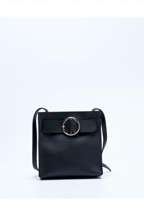 حقيبة يد نسائية مزينة بحزام سبور - اسود