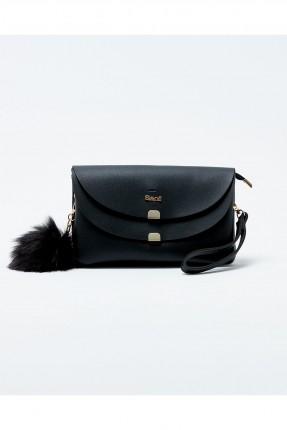 حقيبة يد نسائية صغيرة مع اغطية - اسود