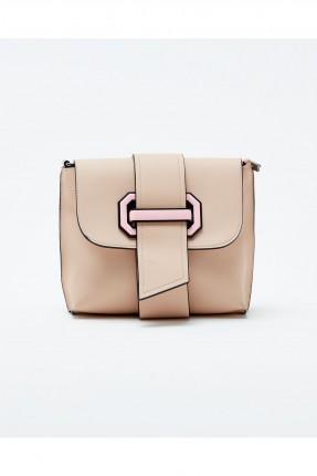 حقيبة يد نسائية مزينة غطاء وحزام
