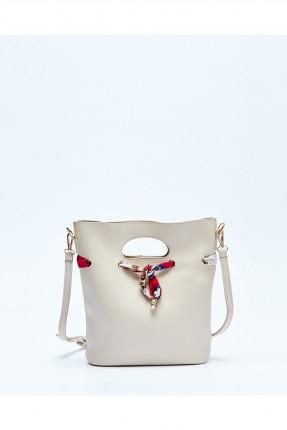 حقيبة يد نسائية جلد سبور - بيج