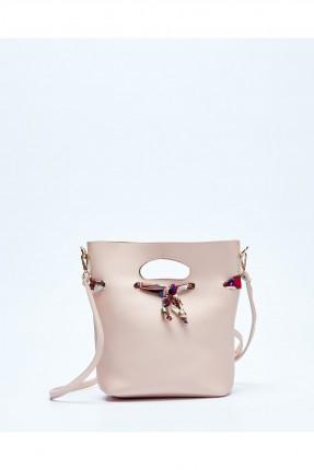 حقيبة يد نسائية جلد سبور - زهري