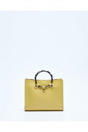 حقيبة يد نسائية كلاسيكية - اصفر