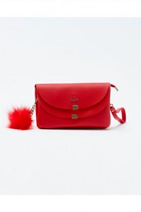 حقيبة يد نسائية صغيرة مع اغطية سبور - احمر