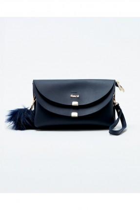 حقيبة يد نسائية صغيرة مع اغطية - ازرق داكن