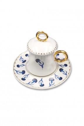 طقم فنجان قهوة مع غطاء / 6 اشخاص /