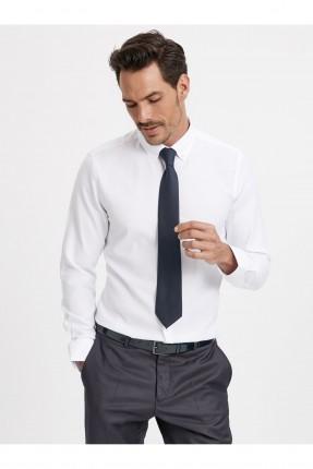 قميص رجالي اكمام طويلة - ابيض