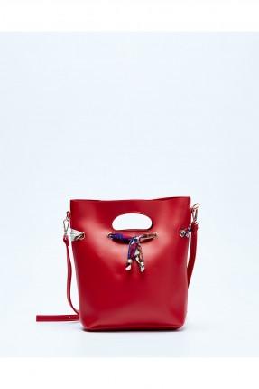 حقيبة يد نسائية جلد سبور - احمر