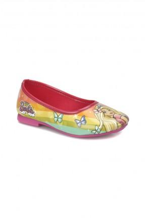 حذاء اطفال بناتي مع رسمة باربي