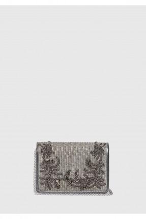 حقيبة يد نسائية مع غطاء سبور شيك - رمادي