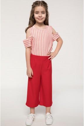 بنطال اطفال بناتي - احمر