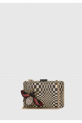حقيبة يد نسائية مع حزام كتف معدن مزينة