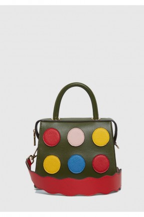 حقيبة يد نسائية مزينة دوائر مع حزام سبور