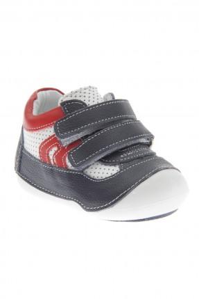 حذاء بيبي ولادي مع لاصق - ازرق داكن