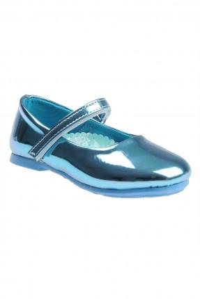 حذاء اطفال بناتي ذو لمعة - ازرق