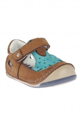 حذاء بيبي ولادي - بني