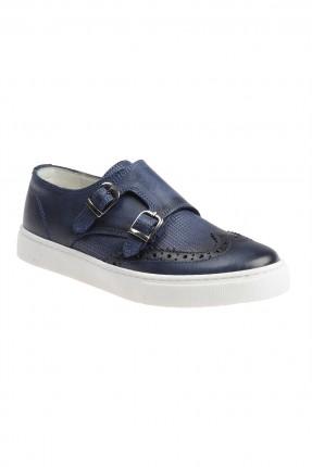 حذاء اطفال ولادي مع احزمة - ازرق داكن