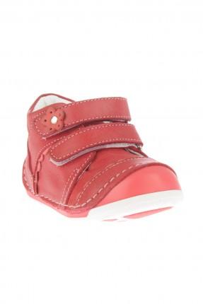 حذاء بيبي بناتي مع حزام لاصق - احمر