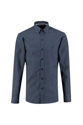 قميص رجالي سليم فيت - ازرق داكن