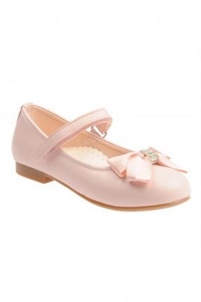 حذاء اطفال بناتي مع ببيون - وردي